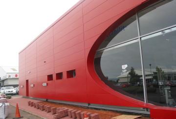 Kia Car Showroom steel cladding