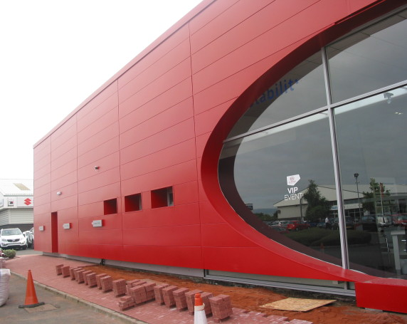 Kia Car Showroom steel cladding